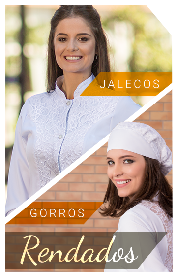 Jalecos e Gorros Rendados